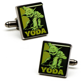 Star Wars Fighting Yoda Cufflinks Novelty