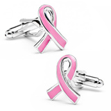Pink Awareness Ribbon Cufflinks Novelty