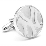 Silver Edition Yankees Cufflinks Novelty