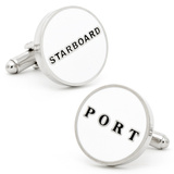 Starboard and Port Cufflinks Novelty