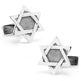 Sterling Star of David Cufflinks Novelty
