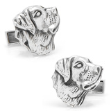 Sterling Labrador Cufflinks Novelty