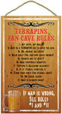 Terrapins Fan Cave Rules Wood Sign Wood Sign