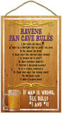 Ravens Fan Cave Rules Wood Sign Wood Sign