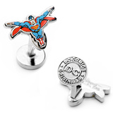 Superman Action Cufflinks Novelty