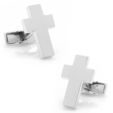 Sterling Cross Cufflinks Novelty