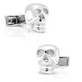 Sterling Skull Cufflinks Novelty