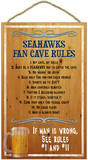 Seahawks Fan Cave Rules Wood Sign Wood Sign