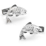 Sterling Salmon Cufflinks Novelty