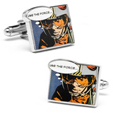"Luke Skywalker ""Use the Force"" Comic Print Cufflinks Novelty"