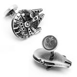 Star Wars Palladium Millenium Falcon Cufflinks Novelty