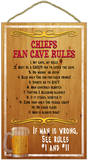 Chiefs Fan Cave Rules Wood Sign Wood Sign
