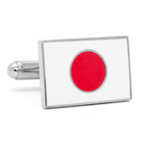 Japanese Flag Cufflinks Novelty