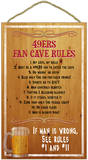 49ers Fan Cave Rules Wood Sign Wood Sign