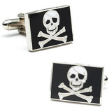 Jolly Rodger Flag Cufflinks Novelty