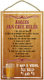 Aggies Fan Cave Rules Wood Sign Wood Sign