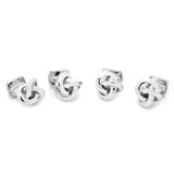 Sterling Silver Knot Studs Novelty