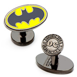 Enamel Oval Batman Logo Cufflinks Novelty