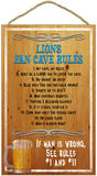 Lions Fan Cave Rules Wood Sign Wood Sign