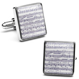 Classical Sheet Music Cufflinks Novelty