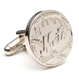Silver Edition NY Mets Cufflinks Novelty
