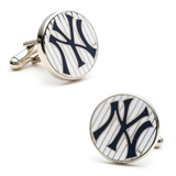 Yankees Pinstripe Cufflinks Novelty