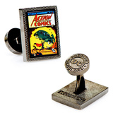 Superman First Issue Comic Cover Cufflinks Novelty