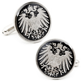 German Empire 5 Cent Coin Cufflinks Novelty