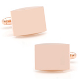Stainless Steel Curved Rose Gold Cufflinks Novelty