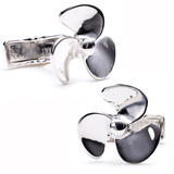 Sterling Propeller Cufflinks Novelty