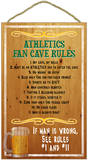Oakland Athletics Fan Cave Rules Wood Sign Wood Sign