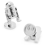 Star Wars 3-D Palladium R2D2 Cufflinks Novelty