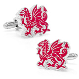 Welsh Dragon Cufflinks Novelty
