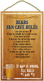 Bears Fan Cave Rules Wood Sign Wood Sign