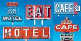 Motel Café Plakater af  Blonde Attitude