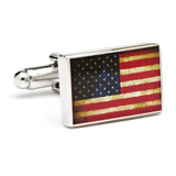 Vintage USA Flag Cufflinks Novelty