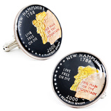 Hand Painted New Hampshire State Quarter Cufflinks Novelty