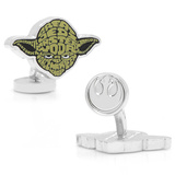 Yoda Typography Cufflinks Novelty