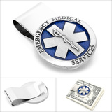Pewter Emergency Medical Services (E.M.S) Money Clip Novelty