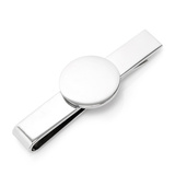 Stainless Steel Round Infinity Engravable Tie Bar Novelty