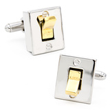 Light Switch Cufflinks Novelty