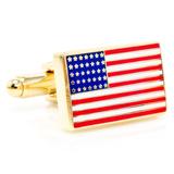 Gold American Flag Cufflinks Neuheiten