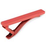 Red Stainless Steel Tie Clip Novelty