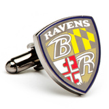 Baltimore Ravens Shield Cufflinks Novelty