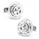Sterling Cyclist Cufflinks Novelty