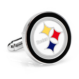 Silver Pittsburgh Steelers Cufflinks Novelty