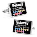 Time Square Subway Sign Cufflinks Novelty