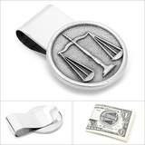 Pewter Scales of Justice Money Clip Novelty