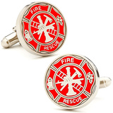 Firemens Shield Cufflinks Novelty