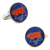 Hand Painted Ireland 5P Coin Cufflinks Novelty